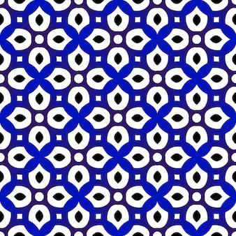 Padrão azul e branco