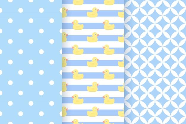 Padrão azul. padrão sem emenda de chá de bebê