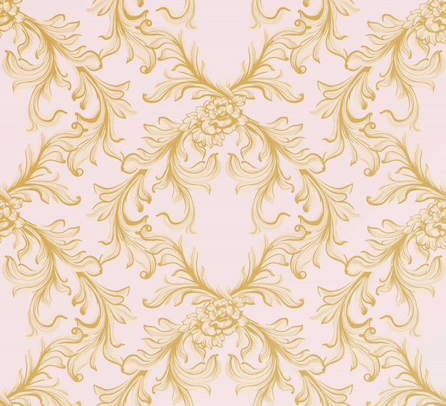 Padrão barroco. ornament decor para convite, casamento, cartões de saudação. ilustrações vetoriais