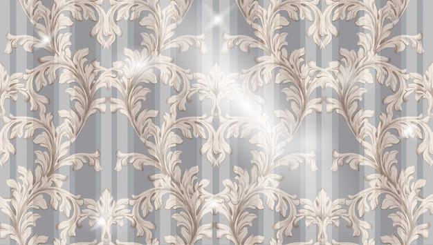 Padrão barroco vetor de fundo antigo de tecido. texturas de decoração de ornamento vintage
