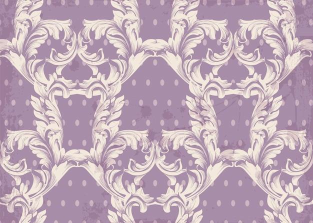 Padrão barroco vetor de fundo antigo. texturas de decoração de ornamento vintage