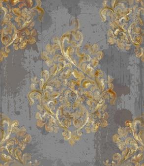 Padrão barroco vintage