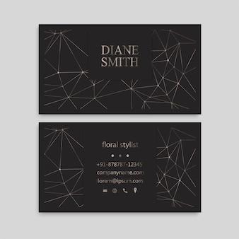 Padrão bonito cartão de visita cartão de visita modelo de design