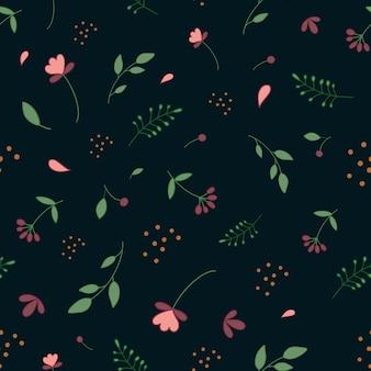 Padrão botânico padrão simples