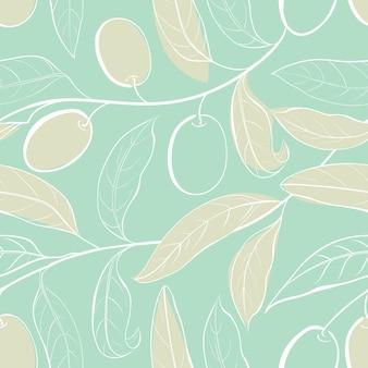 Padrão botânico sem costura