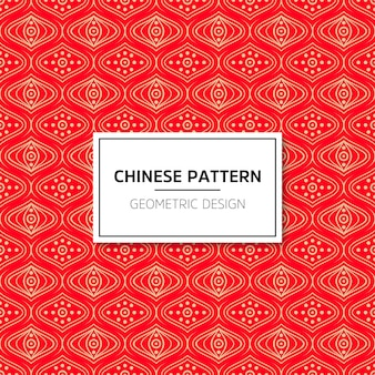 Padrão chinês sem costura. fundo brilhante do vetor com ornamento vermelho. decoração traditio