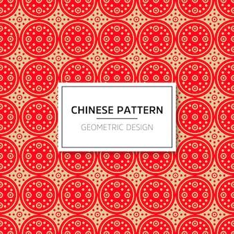 Padrão chinês sem costura. ornamento vermelho do fundo do vetor. decoração com chin tradicional