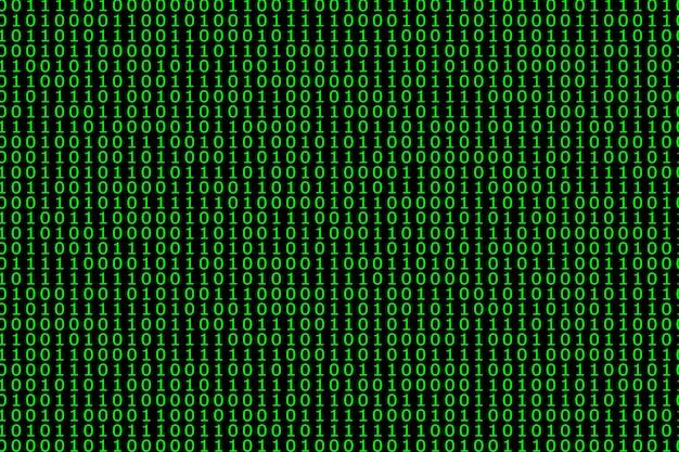 Padrão cibernético de fluxo de código binário com números