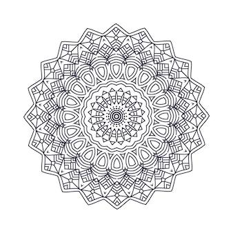 Padrão circular em forma de mandala para Henna, Mehndi, tatuagem, decoração. Ornamento decorativo.