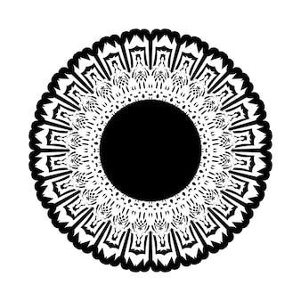 Padrão circular em forma de mandala para tatuagem de henna, mehndi, decoração. ornamento decorativo em estilo oriental étnico. página do livro para colorir.