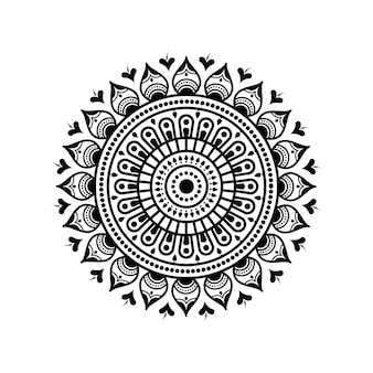 Padrão circular em forma de mandala