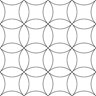 Padrão circular interlocking sem costura