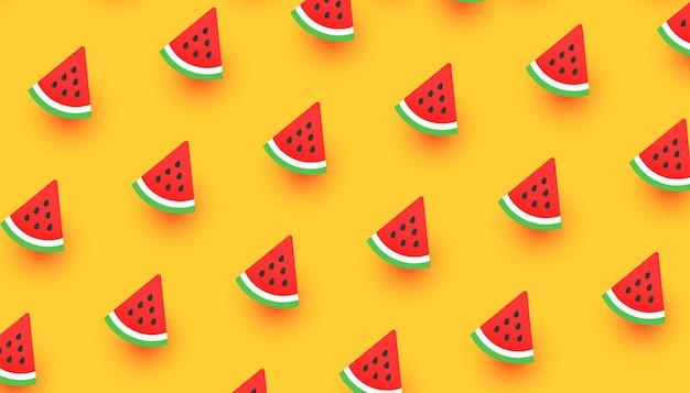 Padrão colorido de fatias de melancia