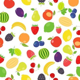 Padrão colorido de frutas