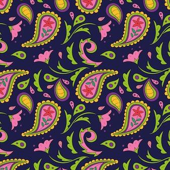 Padrão colorido de paisley