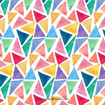 Padrão colorido de triângulos de aquarela