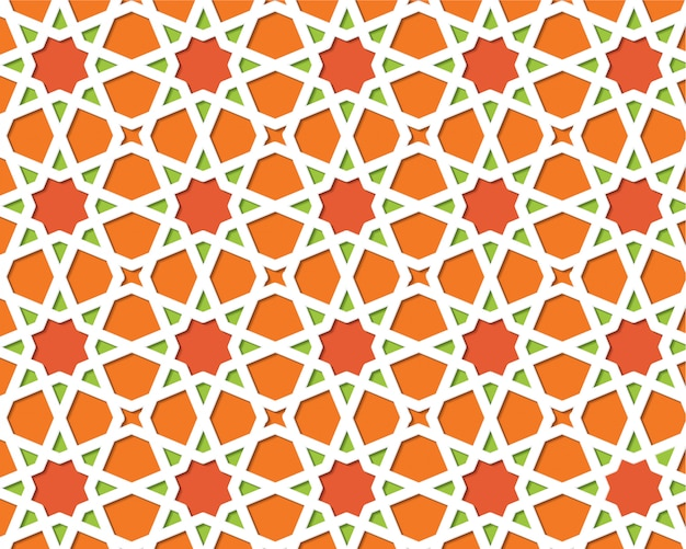 Padrão colorido islâmico