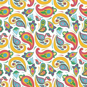 Padrão colorido paisley criativo