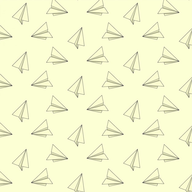 Padrão com aviões de papel