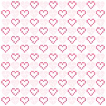 Padrão com corações, desenho vetorial simples
