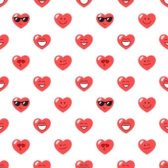 Padrão com corações vermelhos