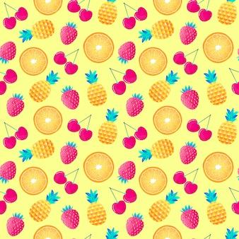 Padrão com frutas