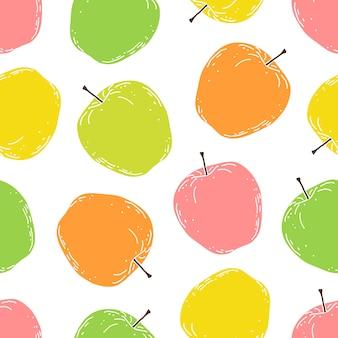 Padrão com maçãs