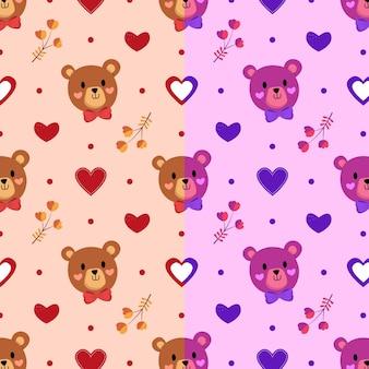 Padrão com ursinhos de pelúcia