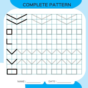 Padrão completo. atividade de linhas de rastreamento para os primeiros anos. planilha pré-escolar para praticar habilidades motoras finas. traçando linhas. melhorar as tarefas de habilidades.