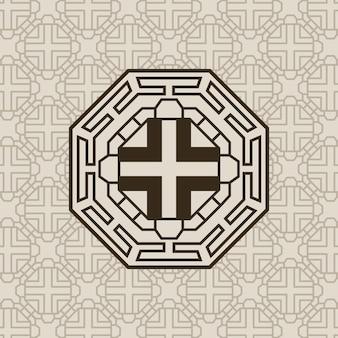 Padrão coreano com figura octogonal
