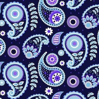 Padrão criativo de paisley azul