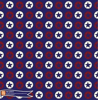 Padrão da bandeira das estrelas americanas, textura abstrata sem costura. ilustração da arte vetorial