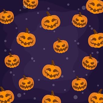 Padrão de abóbora de halloween