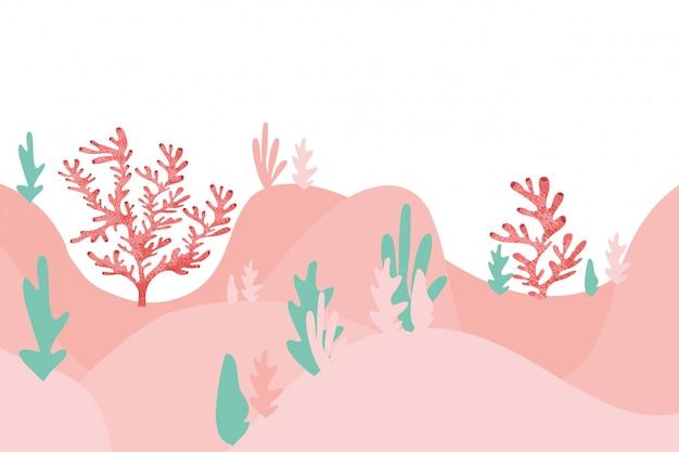 Padrão de algas marinhas