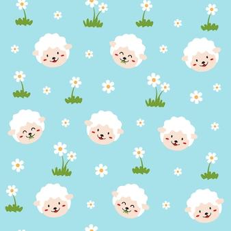 Padrão de animal de ovelhas
