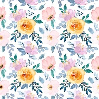 Padrão de aquarela de flor macia