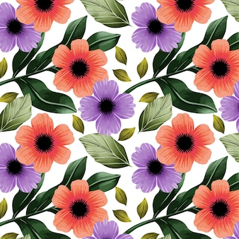 Padrão de aquarela floral boho