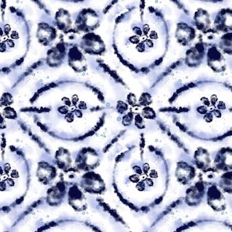 Padrão de aquarela shibori