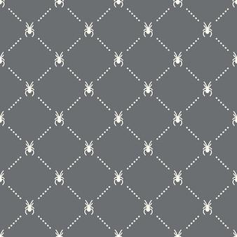 Padrão de aranha perfeita em um fundo escuro. design criativo do ícone de aranha. pode ser usado para papel de parede, fundo de página da web, têxtil, impressão ui / ux