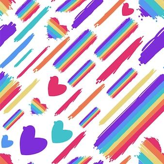 Padrão de arco-íris desenhado à mão