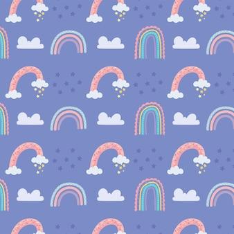 Padrão de arco-íris fofo