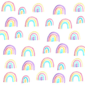 Padrão de arco-íris pintado colorido