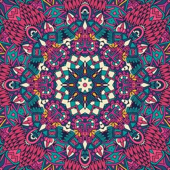 Padrão de arte de mandala colorida.