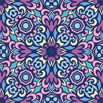 Padrão de arte orgânica estampada floral doodle. ornamento de estilo étnico doodle. pode ser usado para têxteis, cartões, livro para colorir, impressão de capa de telefone