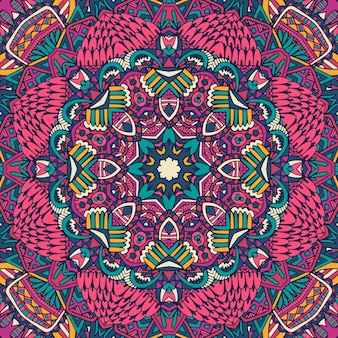 Padrão de arte zentangle colorido