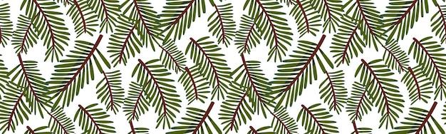 Padrão de árvore de natal, textura de ramos de abeto. design de papel de embrulho de presentes. textura perfeita.