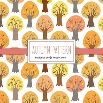 Padrão de árvores bonitas do outono