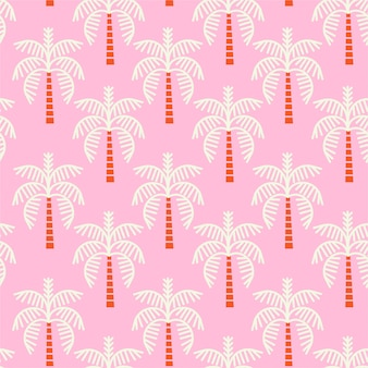 Padrão de árvores de palma rosa