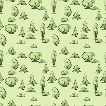Padrão de árvores verdes