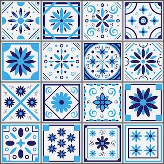 Padrão de azul sem costura mediterrâneo. padrão de azul sem costura mediterrâneo.